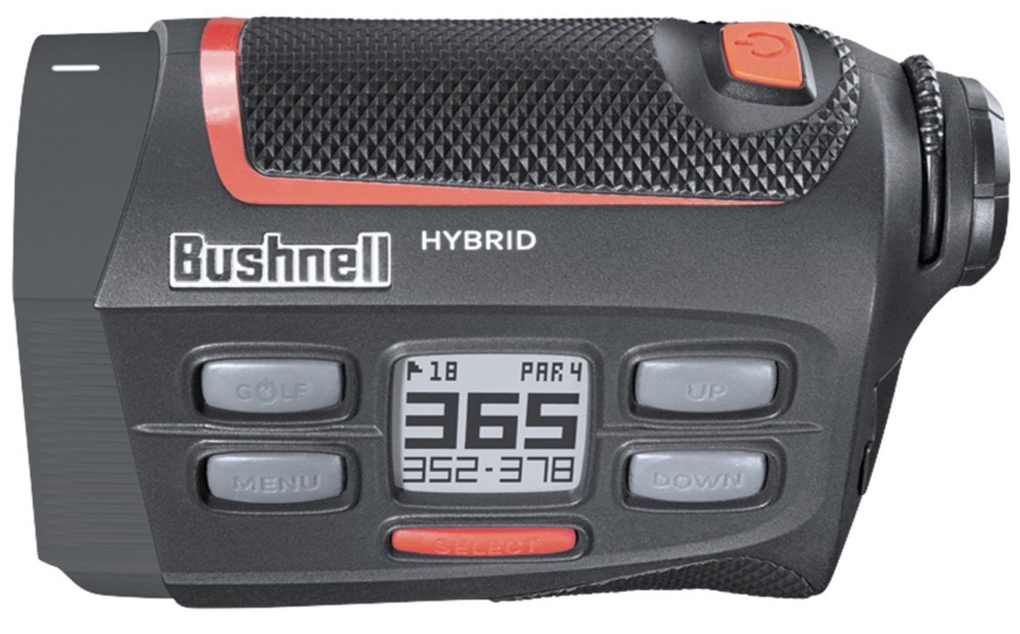 Bushnell Hybrid GPS laser golf rangefinder - left top view