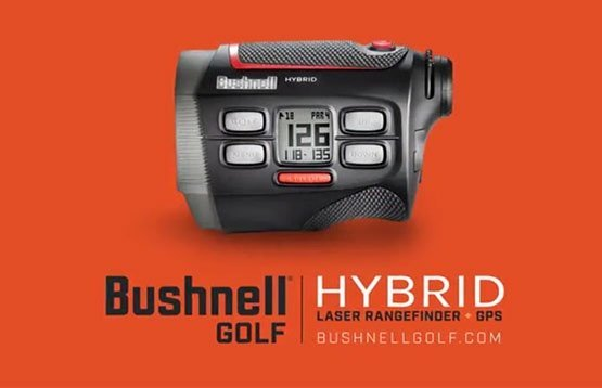 Bushnell Hybrid golf rangefinder - with GPS and laser
