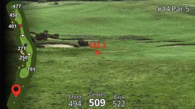Garmin Approach Z80 Hybrid GPS Rangefinder - distance to hazards