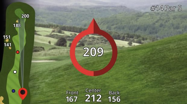 Garmin Approach Z80 Hybrid GPS Rangefinder - pin pointer mode