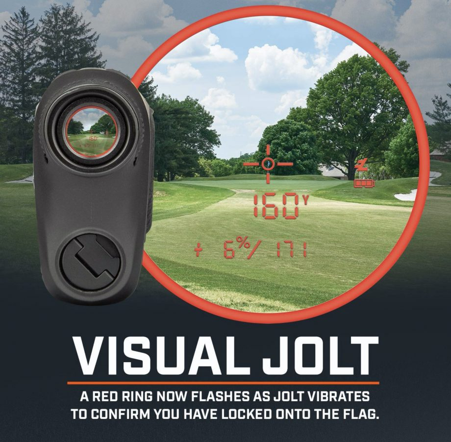 Bushnell Pro XE Golf Laser Rangefinder with Pinseeker and Visual Jolt technology